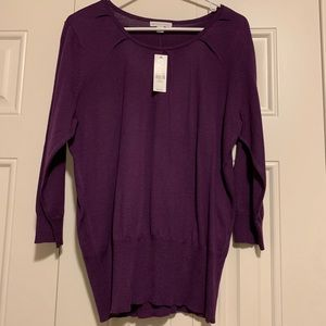 NY&Company Violet Sweater (new with tags)
